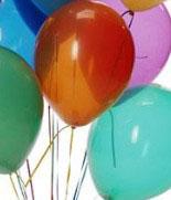 гирлянда из разноцветных шаров