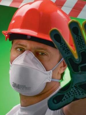 респираторы, рукавицы и рабочие перчатки