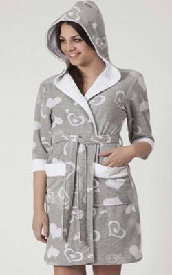 Велюровый халат Турция