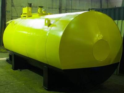 резервуар с опорами и разрешением