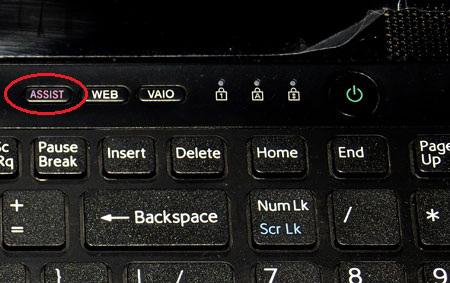 сервисная клавиша ноутбука Sony Vaio