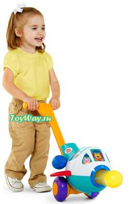 игрушка каталка с ручкой petshop
