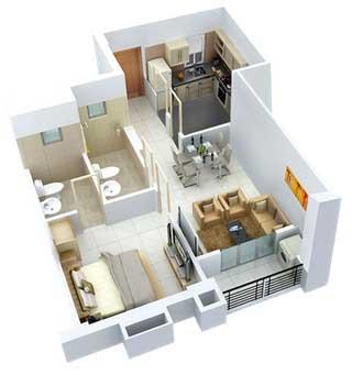 1-комнатная квартира в новострое Киева