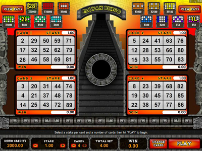 Mayan Bingo игровые автоматы играть бесплатно и без регистрации