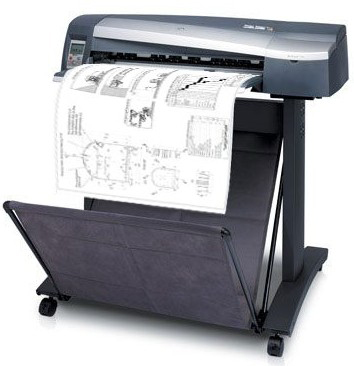 черно-белая печать чертежей: А0, А1, А2