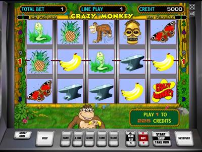 игровые автоматы бесплатно Crazy Monkey