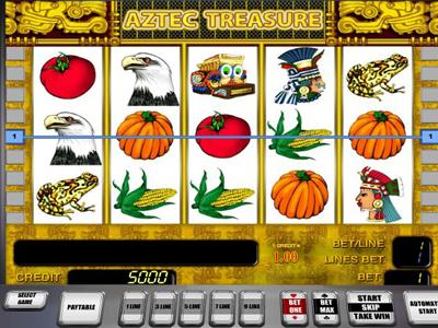 бесплатные игровые автоматы Вулкан онлайн: слот Aztec Treasure