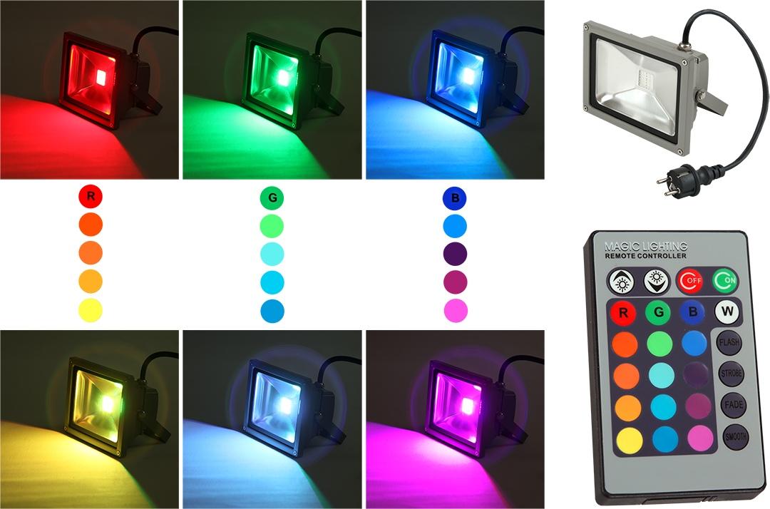 Светодиодный прожектор RGB