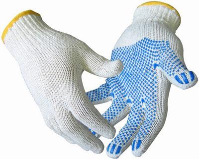 перчатки хб с пвх