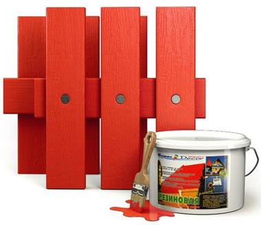 резиновая краска для дерева