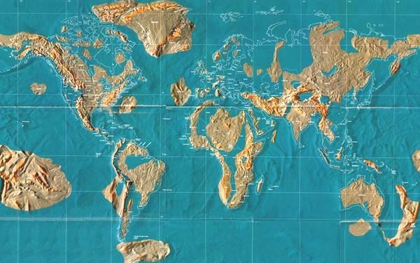 Это будет гигантский морской путь, который образуют новые моря.  Одна его.