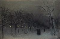 Левитан Исаак Ильич - Бульвар зимой. 1883