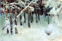 Левитан И.И. Лес зимой