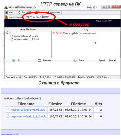 Настройка HTTP File Server