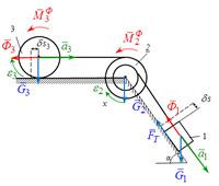 Применение общего уравнения динамики исследованию движения механической системы